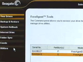 Demo of Seagate's Free Agent hard drives and software