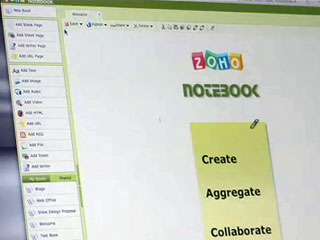 Zoho Notebook demoed