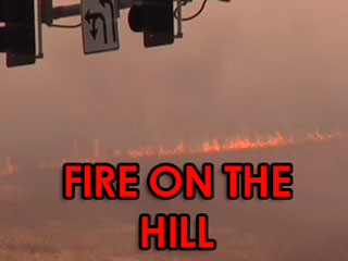 Fire on Dish Hill in Palo Alto