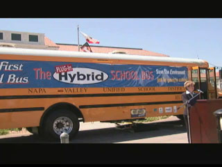 California's New Hybrid School Bus