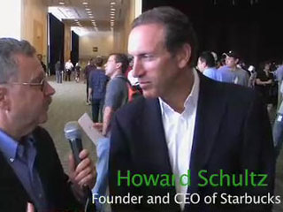 Free iTunes at Starbucks – Larry Magid interviews Starbucks CEO Howard Schultz