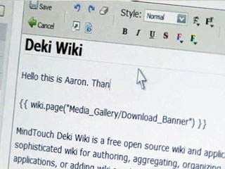 "Demo of Mindtouch, ""best open source wiki"""