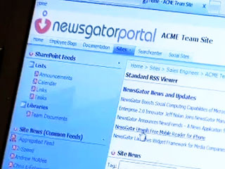 Demo of NewsGator's enterprise feed system