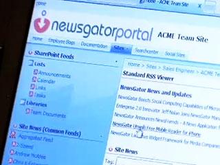 Demo of NewsGator's enterprise feed system