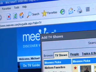 Using MeeVee to search for favorite video shows