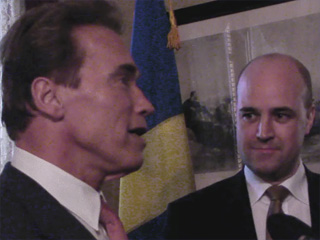 Gov. Schwarzenegger and Swedish Prime Minister Fredrik Reinfeldt Meet in California