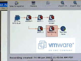 Demo of VMWare's latest virtualization technology